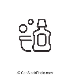 Detergent line icon isolated on white. Vector illustration