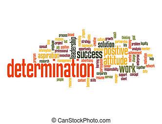 determinação, palavra, nuvem