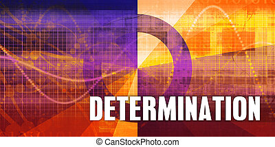 Determination Focus Concept on a Futuristic Abstract...