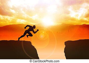Determination - Silhouette illustration of a male figure ...