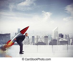 determinazione, e, potere, uomo affari