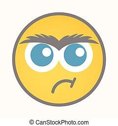 Determined - Cartoon Smiley Vector
