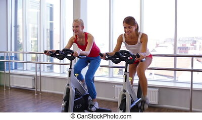 Determined Friends - Female friends enjoying their workout...