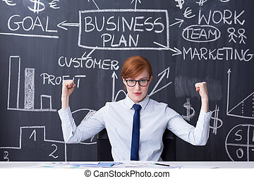 Determined to be succesful and efficient - Portrait of a...