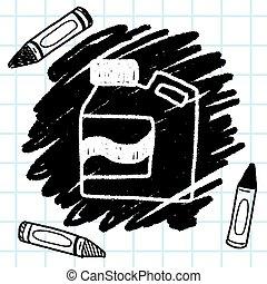 detersivo, bucato, disegno, scarabocchiare