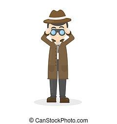 detetive, binocular.