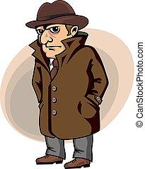 detetive, espião, ou