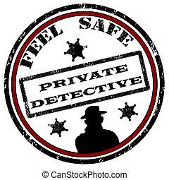 detetive, selo, privado