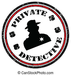 detetive, selo, privado