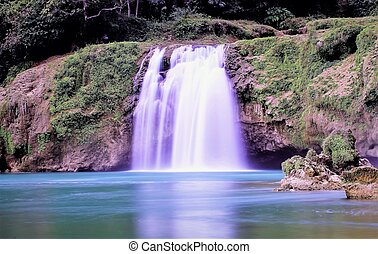 detian, cachoeira, em, guangxi, china