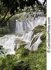 detian, cachoeiras, em, china, também, sabido, como,...