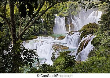 detian, também, vietnã, gioc, cachoeiras, sabido, china,...