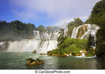 Detian Waterfalls in China, also known as Ban Gioc in...