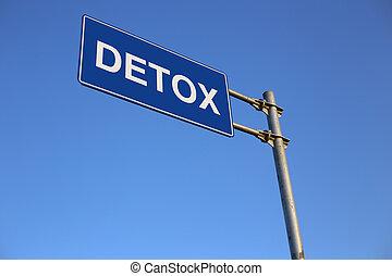 detox, út cégtábla