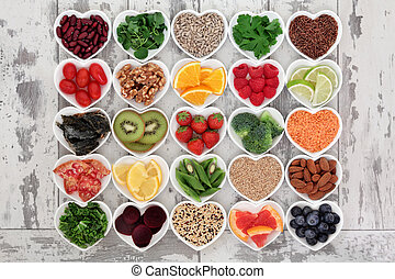 Detox Diet Food - Diet detox super food selection in heart...