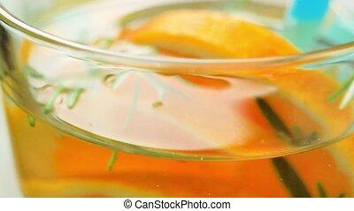 Detox water orange cocktail