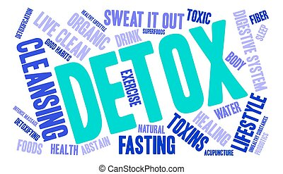 Detox Word Cloud - Detox word cloud on a white background.