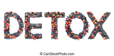 Detox word made from berries