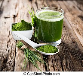 detox. young barley, chlorella supe - Young barley and...