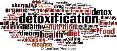 Detoxification word cloud concept. Vector illustration