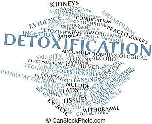 Detoxification - Abstract word cloud for Detoxification with...