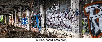 Detroit Abandoned Building - Graffiti