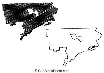 Detroit City map - Detroit City (United States cities,...