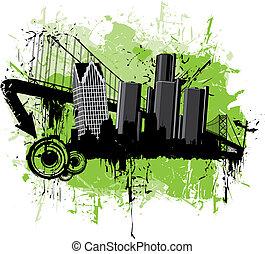 Detroit Grunge Scene - A grunge scene of Detroit Michigan
