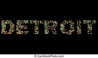 Detroit led text