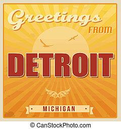 Detroit, Michigan vintage poster