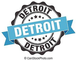 Detroit round ribbon seal