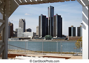 Detroit Skyline Framed 2012