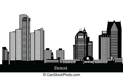 detroit skyline with text