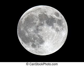 dettagliato, foto, estremamente, superficie lunare