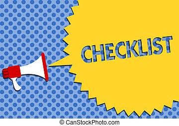 dettagliato, foto, idea, giù, qualcosa, altoparlante, scrittura, concettuale, megafono, speech., affari, esposizione, halftone, mano, checklist., elenco, guida, attività, showcasing, forte, grido, discorso