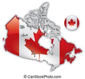 dettagliato, mappa, canada