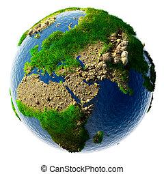 dettagliato, miniatura, concetto, terra, natura
