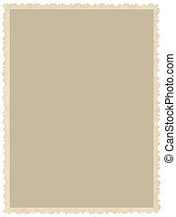 dettagliato, vecchio, sepia, giallo, vuoto, invecchiato, bordo, vendemmia, isolato, fondo, retro, vuoto, immagine, grunge, verticale, cornice, spazio, closeup, foto, copia, scheda, fotografia, cartolina, grande, bordo, beige