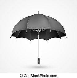 dettagliato, vettore, ombrello, icona