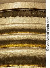 dettaglio, di, dorato, pagoda