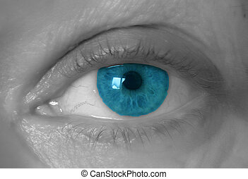 dettaglio, di, un, occhio