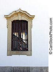 dettaglio, di, uno, finestra