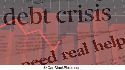 dette, journal, texte, données, contre, crise, statistique, traitement