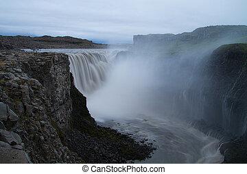 dettifoss, 폭포, 아이슬란드