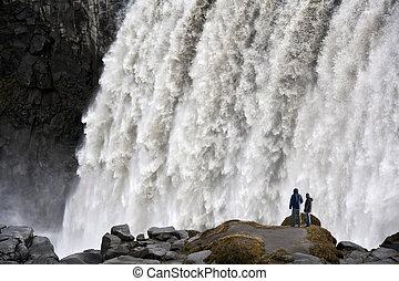 dettifoss, izland, vízesés, -
