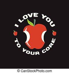detto, buono, mela, citazione, beni, tuo, design.