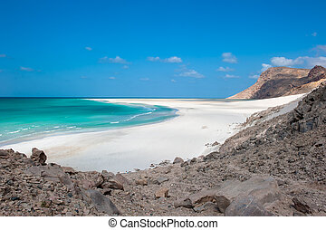 detwah, laguna, socotra, isla, yemen