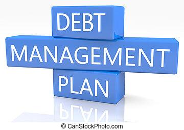 deuda, dirección, plan