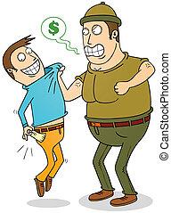 deuda, recaudador