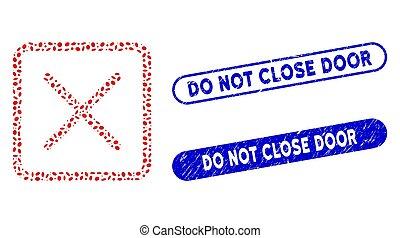 deur, elliptisch, postzegels, niet, mozaïek, afsluiten, ...